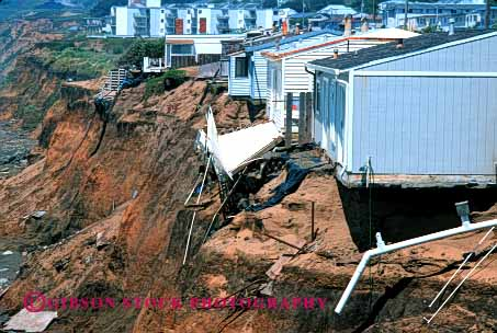 Stock Photo #1377: keywords -  beach bluff bluffs california cliff cliffs coast coastal coean damage danger disaster erode eroded erodes eroding erosion homes horz house insurance landslide loss neighborhood pacifica property risk sea shore shoreline threat threatening threatens undercut unstable