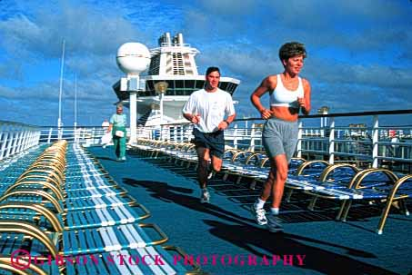Stock Photo #1405: keywords -  adventure america athlete athletic boat breath conditioning couple cruise exercise fun horz husband jog man model ocean of outdoor race recreation relax released run sea share ship song summer together training travel trip tropical vacation warm wife woman workout young