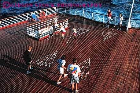 Stock Photo #1406: keywords -  adventure america cruise horz ocean of recreation sea ship shuffleboard song summer travel trip tropical vacation war