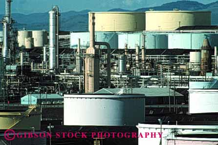 Stock Photo #1435: keywords -  california crude energy environment equipment fuel gas horz industry machinery oil petroleum pipe pollution pressure process refine refinery rodeo storage system tanks technology