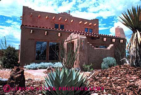 Stock Photo #1452: keywords -  abode adobe architecture desert dwelling estate expensive family home horz house investment mexico new property pueblo quarters real released residence residential shelter southwest suburb