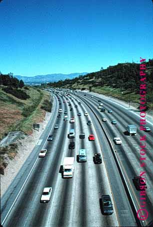 Stock Photo #1480: keywords -  california freeway interstate oaks sherman transportat vert