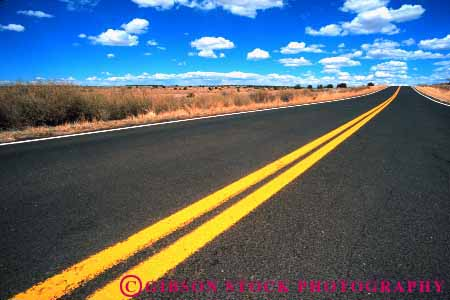 Stock Photo #1488: keywords -  desert drive highway horizon horz landscape mexico new open pavement road route scenic street stripe travel