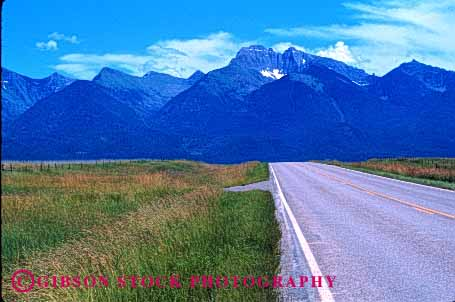 Stock Photo #1494: keywords -  asphalt horz landscape montana mountain open remote road rural scenic wilderness