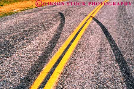 Stock Photo #1534: keywords -  accident auto car collision horz injury insurance marks road skid street strip tire