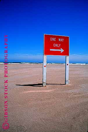 Stock Photo #1551: keywords -  arrow beach caution driving highway one red road safety sign square street traffic vert way