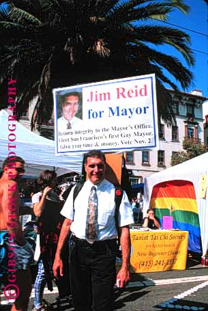 Stock Photo #1569: keywords -  alternative candidate controversial francisco gay mayor political politics rights san sex vert