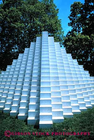 Stock Photo #6115: keywords -  angle art artistic block different gallery grid national of pattern pyramid sculpture square stack symmetrical symmetry triangle unusual vert white