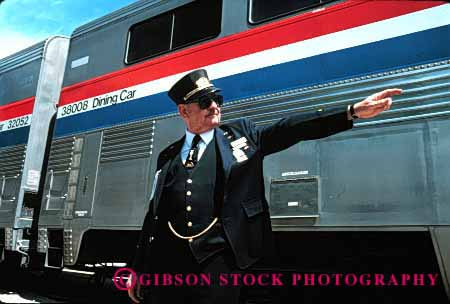 Model Released Train Conductor Amtrak Stock Photo 1624
