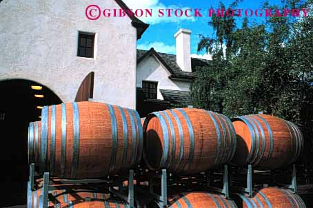 Stock Photo #1657: keywords -  aging barrels ferment horz napa sterling wine winery wood worker