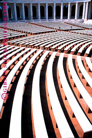Stock Photo #1658: keywords -  abstract amphitheater architecture arlington bench clean color curve equal even geometric geometry lines parallel pattern seats symmetry uniform vert virginia white