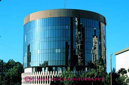 Stock Photo #6111: keywords -  architecture building circle circles circular cylinder cylinders design horz modern office orlando pattern round rounded shape shaped shapes style