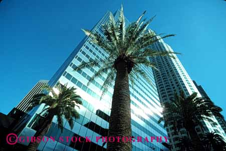 Stock Photo #1664: keywords -  angeles architecture building business commerce design geometric high horz los modern office rise sky tall tower upward windows