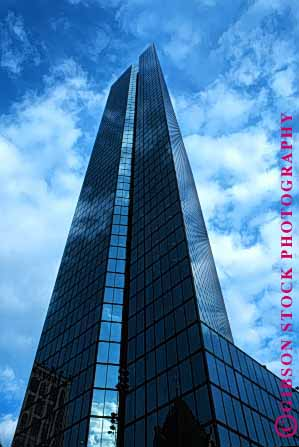 Stock Photo #1667: keywords -  architecture boston building business commerce design geometric hancock high john modern office rise sky tall tower upward vert windows