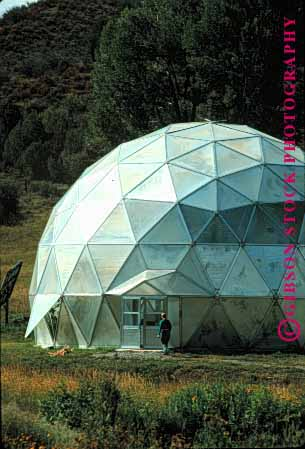 Stock Photo #1677: keywords -  angle dome geodesic geometric geometry greenhouse hexagon pattern pentagon triangle vert