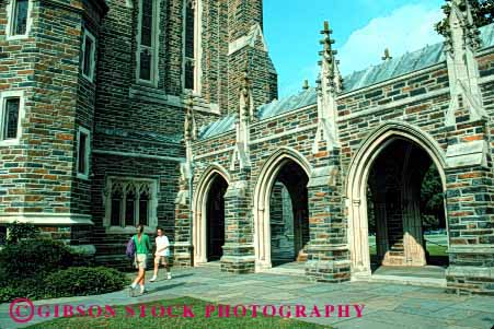 Stock Photo #1687: keywords -  architecture duke gothic horz stone traditional university