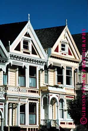Stock Photo #1694: keywords -  alamo architecture decorate francisco gingerbread house not ornate released san square traditional trim vert victorian window