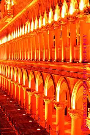 Stock Photo #1700: keywords -  arches architecture bearing column curve engineer geometric geometry las load pattern post round serial symmetry vegas venetian vert