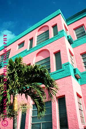Stock Photo #1702: keywords -  americana architecture art beach colorful deco decorate design miami style vert