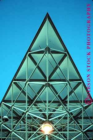 Stock Photo #1705: keywords -  angle architect engineer geometric geometry metal modern new point pyramid triangle vert