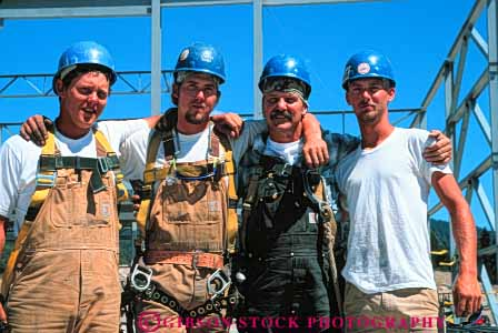 Stock Photo #6192: keywords -  affection and brother brothers build building career commercial construction dad embrace employment family father four group horz hug income job labor laborer laborers man men metal occupation parent parents proud relative relatives released share sibling son sons steel steelworkers team three together work workers