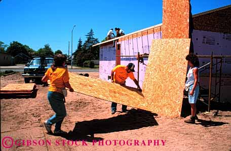 Stock Photo #1777: keywords -  build construction for gi habitat help home horz house humanity men new oconto team volunteers wisconsin women