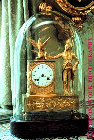 Stock Photo #1815: keywords -  antique clock dial dome eagle george glass gold hands numeral roman rotate round time vert washington