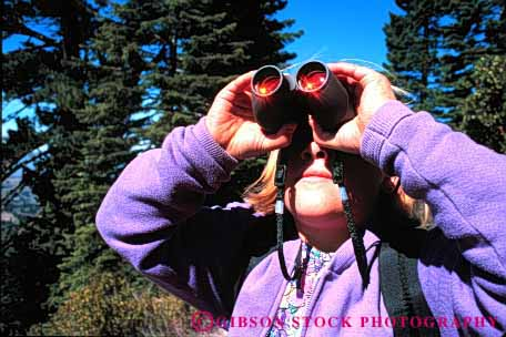 Stock Photo #1892: keywords -  binocular child girl horz model play released see sight vision