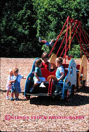 Stock Photo #1900: keywords -  climb exercise hang play playground social together vert