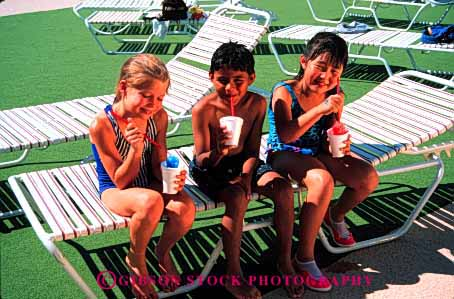 Stock Photo #1985: keywords -  asian boy children drink ethnic food friend gender girl group hispanic horz mix model outdoor park play recreation released share social summer water