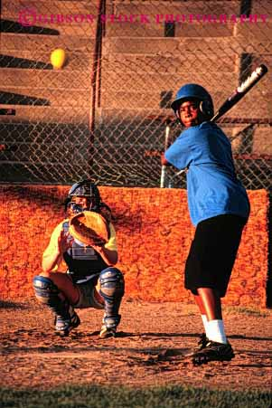 Stock Photo #2046: keywords -  african american ball baseball batter black boy child coordination ethnic exercise game home not outdoor plate released sport team vert