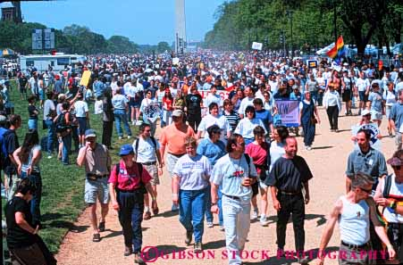 Stock Photo #6086: keywords -  campaign count crowd dc demonstrate demonstration group horz human lots many march mass massive multitude numerous opinion outspoken people rights together washington