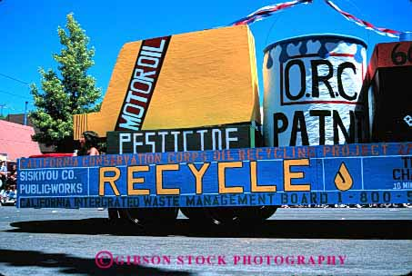 Stock Photo #2098: keywords -  container float horz parade promote recycle recycling