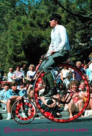 Stock Photo #2108: keywords -  balance bicycle bike fashion not old parade pedal released ride unusual vert