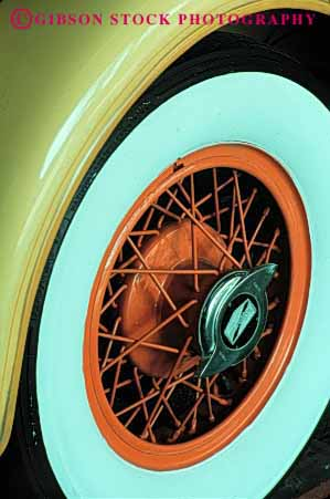 Stock Photo #2148: keywords -  antique auto car classic collectors colorful paint round rubber shiny tire vehicle vert vintage wheel