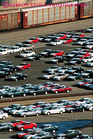 Stock Photo #2183: keywords -  array auto business california car cars center commerce foreign import imported importing imports inventory line linear lines lot lots many new numerous parked parking port railroad richmond row rows sales sell shipping storage trade transact vehicles vert