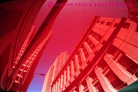 Stock Photo #2190: keywords -  abstract architecture building car clean distort hood horz red reflect reflection shiny