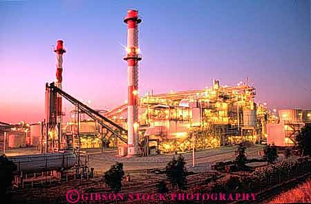 Stock Photo #3414: keywords -  bright burn burning burns california complex dark delano dusk electrical electricity energy equipment evening fossil fuel fuels generate generates generating grid horz industrial industry lighting lights night oil petroleum plant plants power site sites stack