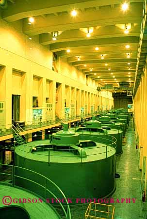 Stock Photo #2210: keywords -  big coulee dam electricity energy equipment generate grand grid house huge hydroelectric industry large machine power powerful technology turbine vert washington