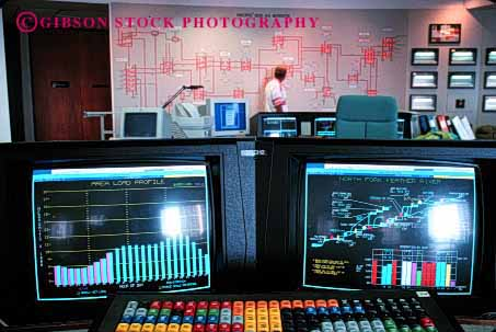 Stock Photo #2236: keywords -  & communications computer control digital display electricity electronic energy francisco gas grid high horz indicator industry job monitor pacific power profession room san station system technician technology track utility work