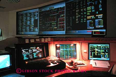 Stock Photo #2238: keywords -  area bay communications computer control digital display electronic high horz indicator industry light monitor oakland rail rapid room system technology track transit transportation