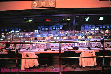 Stock Photo #6140: keywords -  center computer console control desk dial dim display equipment horz indicator intricate kennedy led lighted machine mission room science space technology