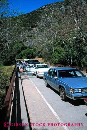 Stock Photo #2274: keywords -  auto bumper busy california car commute congestion drive jam national park road sequoia slow stopped street traffic transportation travel urban vehicle vert wait