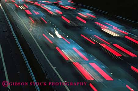 Stock Photo #2277: keywords -  auto blur exposure francisco horz interstate light long motion movement san streak time traffic transportation