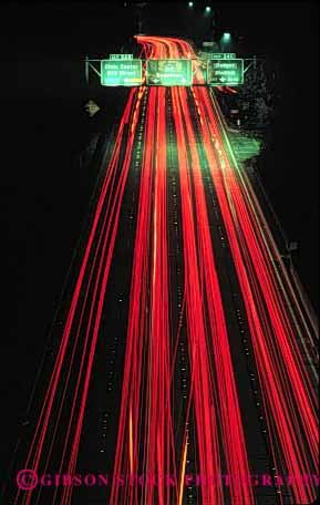 Stock Photo #2287: keywords -  ab angeles blur california car commute congestion distort drive dusk freeway highway interstate light los motion movement night road streaks street tail traffic transportation vehicle vert