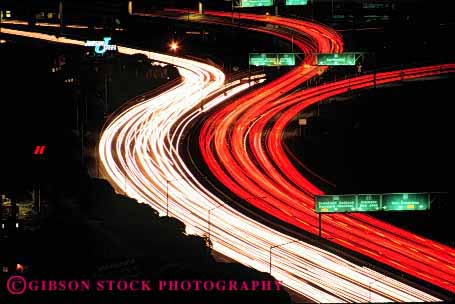 Stock Photo #2288: keywords -  abstract blur bright california car commute congestion curve distort drive dusk exposure francisco freeway highway horz hour interstate light long motion movement night red road rush san streaks street time traffic transportation vehicle