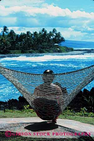 Stock Photo #2365: keywords -  alone coast female hammock ocean outdoor peaceful private quiet relax released shore solitude summer vert view woman
