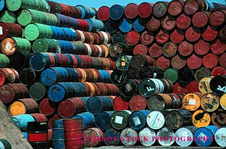 Stock Photo #2440: keywords -  barrel barrels colorful container cylinder hazardous horz liquid many material oil pattern pile round row shipping stack toxic waste