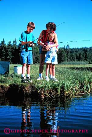 Stock Photo #2483: keywords -  child children daughter family female fishing girl lake mother parent recreation released single sister son sport stream summer together vacation vert warm wife woman