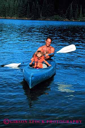 Stock Photo #2501: keywords -  boat child dad daughter father girl kayak lake outdoor paddle parent play released single smile sport summer together vert water